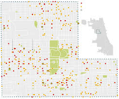 Chicago On A Map by In Chicago Bodies Pile Up At Intersection Of U0027depression And Rage