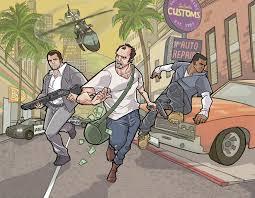 wallpaper games gta 5 grand theft auto man robber three 3 vector