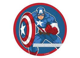 captain america cake topper captain america edible image cupcake toppers party