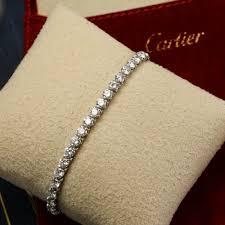 cartier tennis bracelet diamonds images Cartier 6 75 carat diamond tennis bracelet butter lane antiques jpg