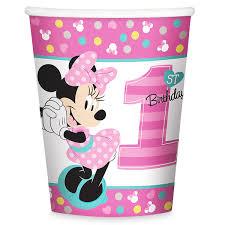 minnie mouse 1st birthday minnie mouse 1st birthday cups shopdisney