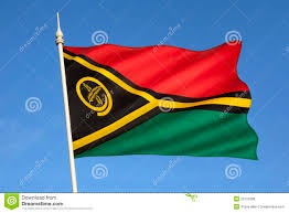 Green Black Red Flag Flag Of Vanuatu South Pacific Stock Photo Image 35122388
