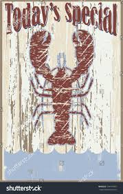 vintage todays special sign lobster background stock vector