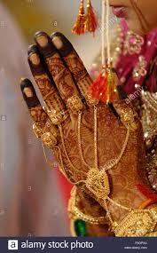 heena ornaments on of in indian hindu wedding