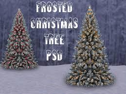 frosted christmas tree frosted christmas tree psd by dbszabo1 on deviantart