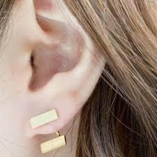 connecting earrings 2 bar connecting earrings on luulla