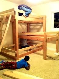 Triple Plans To Build Bunk Beds With Stairs Come Awesome Alocazia - Plans to build bunk beds with stairs