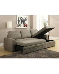 sectional sofa bed with storage incredible deal on acme 51645 derwyn light brown storage sleeper