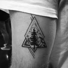 tiny nature geometry tonight tattoos