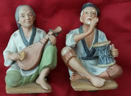 homco home interior asian man women 1436 porcelain figurine