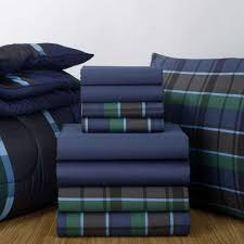 Twin Plaid Comforter Navy Sheets And Navy Hampton Plaid Comforter Find This Sheet Set