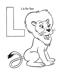 abc coloring activity sheet lion animal coloring page