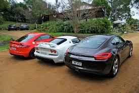 porsche cayman comparison sports car comparison porsche cayman v audi tt rs v lotus exige s