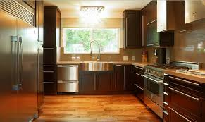 Espresso Cabinet Kitchen Kitchens With Espresso Cabinets And Wood Floors Most Favored Home