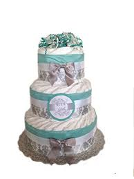 amazon com classic pastel baby shower diaper cake 3 tier