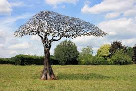 traditional forged outdoor garden decorative metal tree sculpture