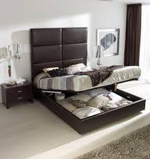 Headboard For Platform Bed Luxury High Platform Bed With Padded Headboard And Storage