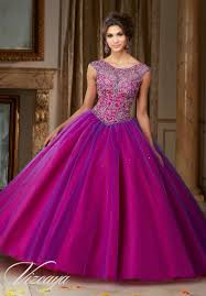 Deep Purple Color Morilee Vizcaya Quinceanera Dress 89104 Jeweled Beading On A