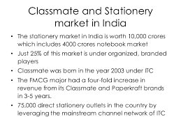 classmate stationery itc classmate imc project