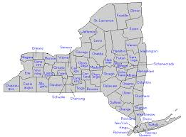 counties map new york state counties genealogy new york state library