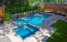 small backyard pool ideas outdoor living outdoor seating area with rattan sofa set and small