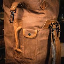 South Dakota travel shoe bags images Canvas duffle backpack dakota vintage military bag tan jpg