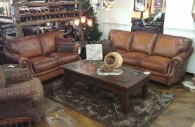 Distressed Leather Sofa by Bradley U0027s Furniture Etc Artistic Leather Premium Rustic Sofas