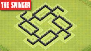 coc map layout th6 clash of clans town hall 6 defense best coc th6 farming layout