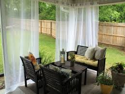 Black Outdoor Curtains Brilliant Outdoor Curtains For Patio With Regard To Ikea Ideas 13