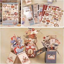gift card for travel vintage travel card in a box diy kit retro london