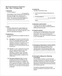 doc 464617 emergency response plan template u2013 emergency response