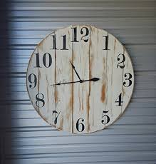 36 reclaimed wood wall clock fixer style clock farmhouse