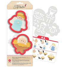 nativity cookie cutter stencil set by sweet sugarbelle acf