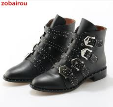 womens leather biker boots sale zobairou brand leather motorcycle boots rivets studded biker shoes