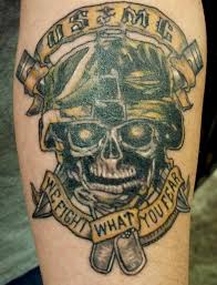 uniquely marine corps tattoos marine skull large design tattoos