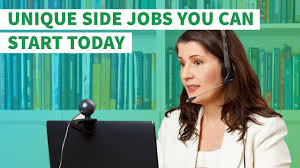 unique side jobs you can start today youtube