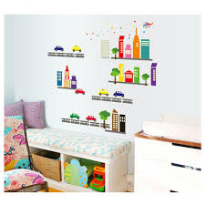 kids diy city car night wall sticker for kids bedrooms removable see larger image