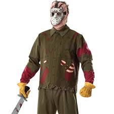 Jason Halloween Mask by Jason Voorhees Machete U0026 Costume