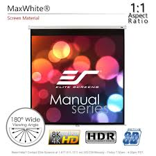 amazon com elite screens manual 71 inch 1 1 pull down