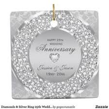 damask 45th wedding anniversary ornament ornaments
