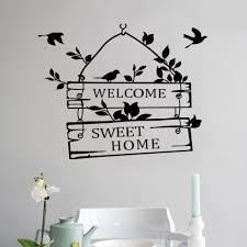 aliexpress com buy welcome sweet home door sign decoration wall