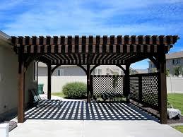Pergola Rafter End Designs by Covered Patio 5 Post 20 U0027 X 20 U0027 Diy Pergola Kit W Lattice Panels