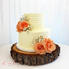 peach ombre wedding cake serving parkersburg wedding cakes heavenly confections athens