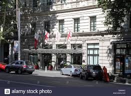 main entrance to the marriott tbilisi hotel on shota rustaveli