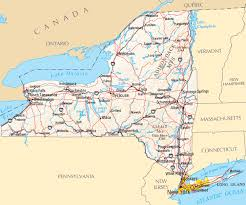 map of united states canada new york map