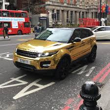 wrapped range rover evoque gold wrapped range rover evoque in london any gold diggers
