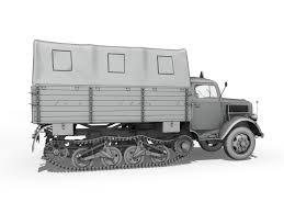 opel blitz 3d model opel blitz maultier half truck cargo truck