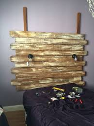 turned fence boards into a shabby chic headboard hometalk