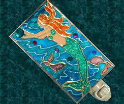 mermaid decorations for home mermaid decor bathroom hand painted coastal beach night light