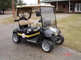 2006 ez go electric golf cart custom steelers paint steelers